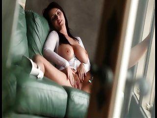 Woman With Big Tits Maturbating