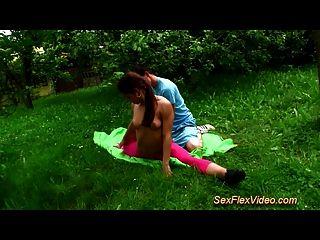 Flexible Gymnast Teen Loves Kamasutra Sex In Nature