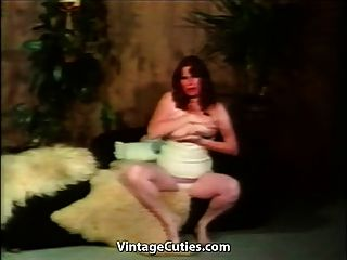 Bbw Redhead With Big Boobs Masturbates (1970s Vintage)