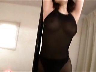 Azumi In Black Stocking And Bodysuit