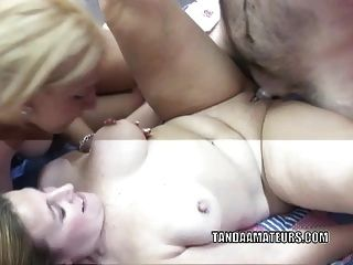 Mature Sluts Monique And Liisa Are Swapping Some Cock