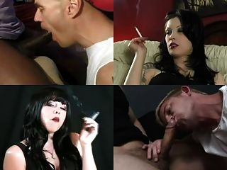 Extreme Sissy Training With Beautiful Smokers Part 1