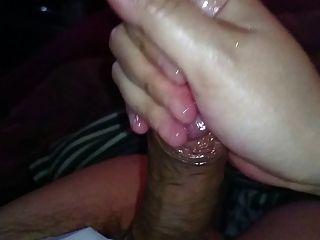 Japanese Couple Handjob Cumshot 1