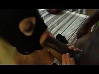Wild Escort Slut Sucking Black Dick