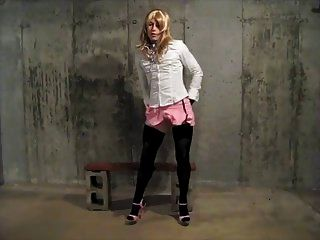 Sissy Crossdresser Shoots A Big Load