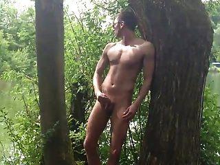 Str8 Men Play At The Lake