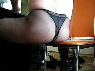 Wanking In Black Pantyhose