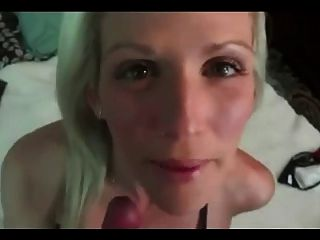 Blond Milf Gets Creampie And Panty Play