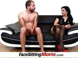 Dirty High Heels Lady Marta Facesitting Young Boy