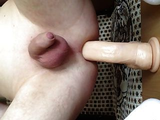 Huge Dildo In My Asshole With Hot Close View
