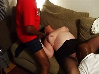 Mature Amateur Bbw In Interracial Threesome 1