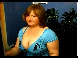 Phat Girl In A Tight Blue Dress Strips Off By Rb