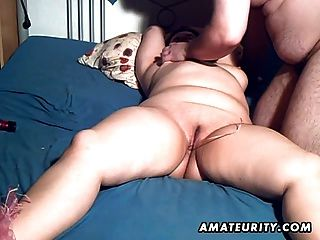 Chubby Amateur Milf Toyed And Blowjob With Facial Cumshot
