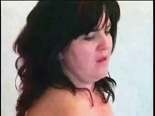 Bbw Brunette Girl Masturbates And Fucks