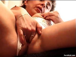 Granny Masturbates In The Kitchen