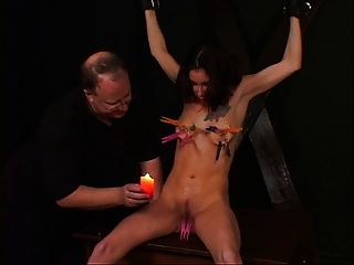 Small Tits Chick Enjoying A Bdsm Session With Her Master