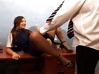 Brit Schoolgirl Outfit - Mmf Threesome - Cim