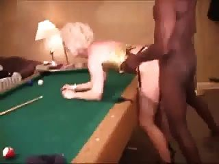 Hot Blonde Wife Stockings Distract Black Man With Bbc
