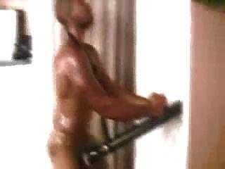 Muscular Black Guy Fucking Fleshlight