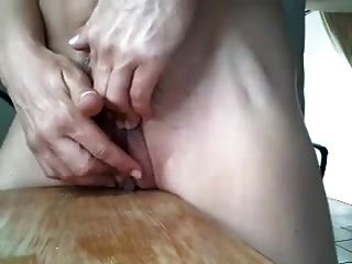 Spread Wide Clit Masturbation