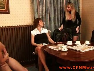 Femdom Cfnms Tugging On Dick