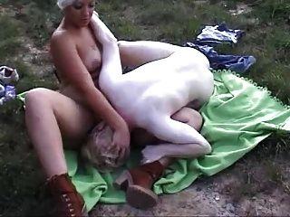Strange Couple In A Cornfield