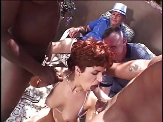 Married Red Head Whore Gets Her Pussy Licked And Fucked From Behind