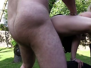 German Amateurs Fucking In The Garden