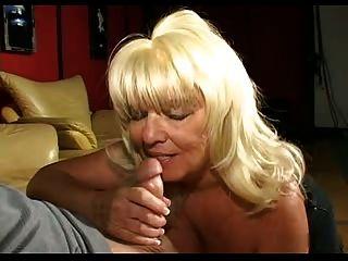 Horny Blonde Granny Blowjob R20