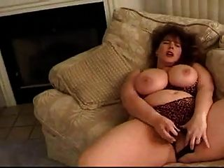 Bbw Princess Playing With A Green Dildo