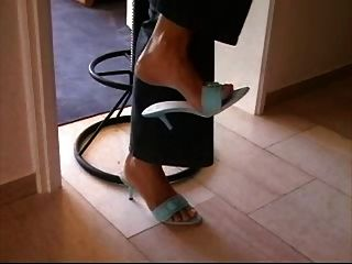 German Milf Blue  Shoejob