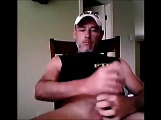 Hung Daddy Jerking Cock