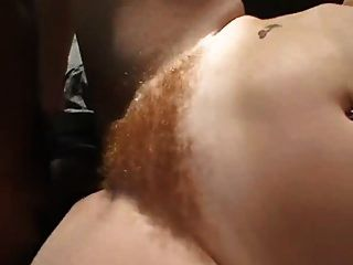 Cherry Poppins Hairy Redhead Interracial