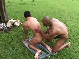 Black Slave Fucks Hit White Farmer