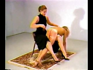 7 Mistresses Take Turns Otk Spanking A Sub