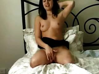 Dak Amputee Brunette Masturbates On Bed Legless