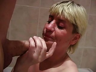 Blowjob Titty Fuck And Cumshot For Blond Mature