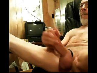 Grandpa Jerks His Cock And Big Balls On Cam Older Mature