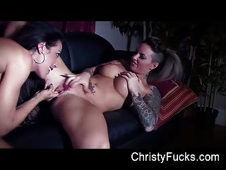 Christy Mack And Capri Cavanni Explore Each Others Bodies