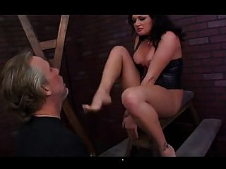 Mistress Lane Plays Her Slave With Her Ass