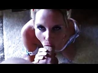 Horny Blonde Milf Deepthroat And Facial