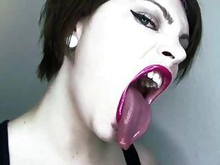 Lipstick Coated Mouth Fetish
