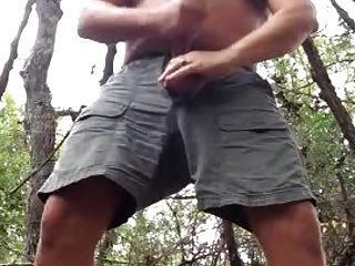Str8 Daddy Bear Cum In The Forest