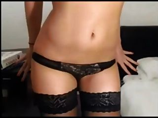 Hot Babe Striptease On Webcam