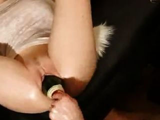 Whore Fucked A Bottle Monster Pussy Gape