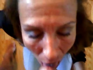 Cougar head 72 on her knees