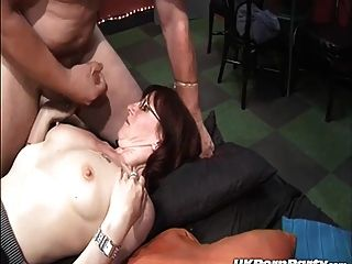 Swinging Amateurs Enjoy A Gangbang Party In A Sex Club