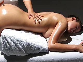 Hot Massage Cession With Beautiful Lesbians Big Tits