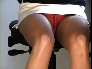 Secretary Under Desk Upskirt