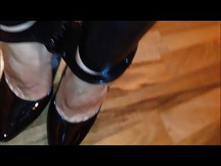 Cuffed In High Heels With Ice Cubes Until Melting
